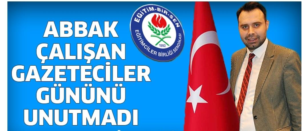 Eğitim Bir Sen Aydın Adnan Menderes Üniversitesi (2 nolu) Şubesi çalışan gazetecileri unutmadı.